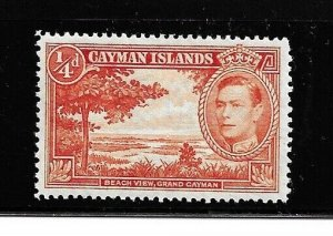 Cayman Islands Stamp- Scott # 100a/A13- 1/4p- Mint/LH-1938-43-OG