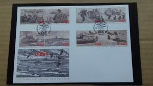 Isle of Man 2004 World War II - 60th Anniversary of Operation Overlord FDC