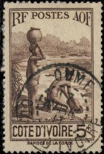 CÔTE-D'IVOIRE - 1941 (7/4) - CAD OUMÉ sur Yv.130