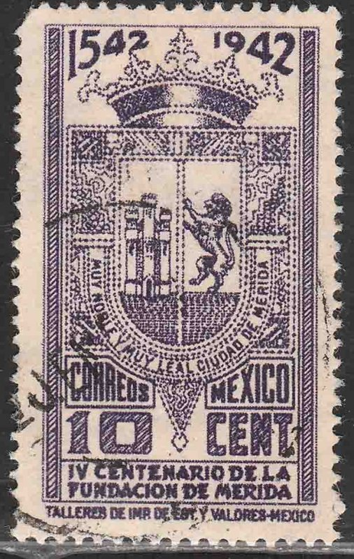 MEXICO 770, 10¢ 400th Anniv of Merida COAT OF ARMS. Used. VF. (958)