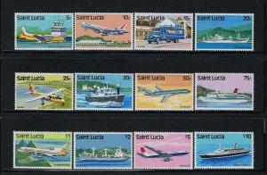 ST. LUCIA SCOTT #504-515 1980 QEII SET- MINT NEVER HINGED