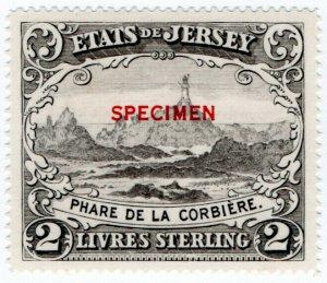 (I.B) Jersey Revenue : Duty Stamp £2 (specimen)