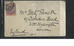 RHODESIA  (P1703B)  1898 ARMS 6D COVER TO ENGLAND