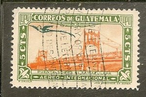 Guatemala  Scott C115  Bridge   Used