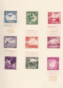 nauru  1954  mounted mint stamps ref r13026