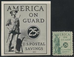 #PS15 B.E.P. PHOTO ESSAY 25¢ US POSTAL SAVINGS 1941 BT7445