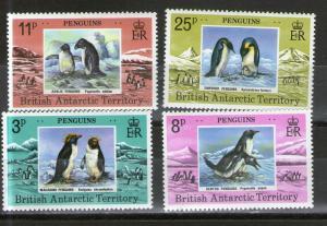 British Antarctic Territory 72-75  MNH