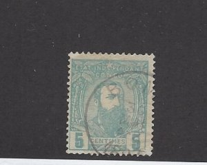 Belgium Congo, 6, King Leopold II Single, **Used** Z1