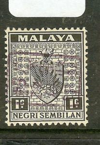 MALAYA PERAK (P1710B) JAPANESE OCCUPATION NS 1C SIDEWAYSS CHOP VIOLET SGJ161AVAR