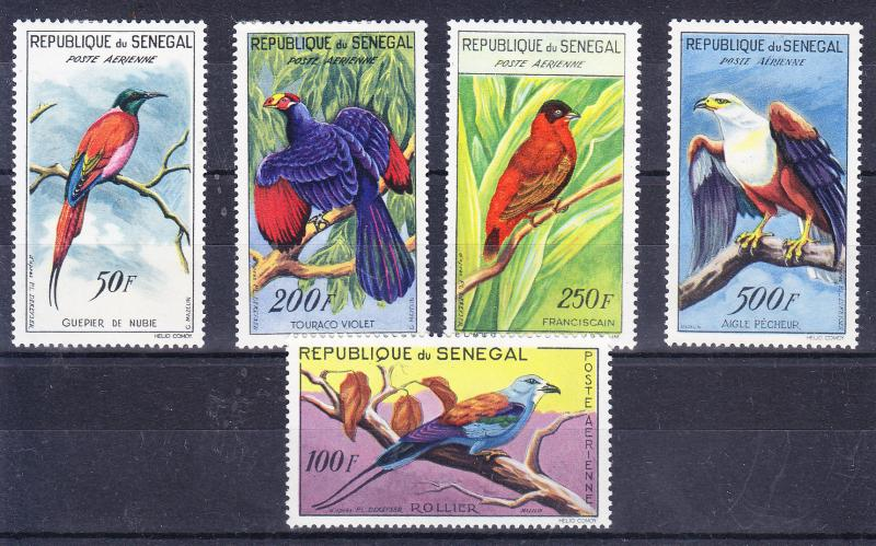 Senegal 1960 African BIRDS complete (5) VF/Mint(*)