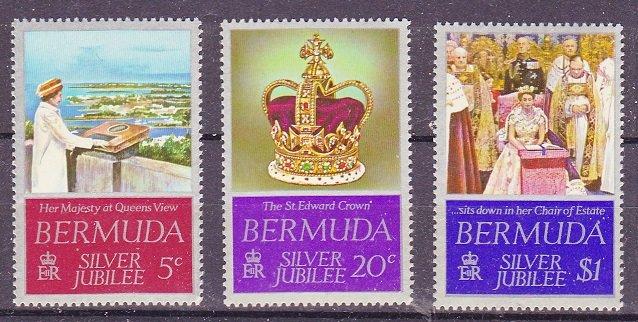 Bermuda MNH 347-9 Silver Jubilee QE II 1977