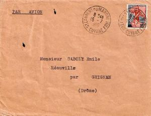 French Guiana France 25F Marianne and Ship of State 1960 St. Laurent du Maron...