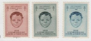 Luxembourg Charity hinged (no remnants) Gum stamp 6-6-21-