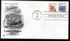 US 2464 Lunch wagon Artcraft U/A FDC