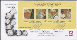 Namibia # 909, Diana, Princess of Wales, 1st Day Cover