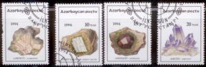 Azerbiajan 1994 Crystals Set of 4 SC#419-22 Used