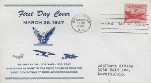 C33 5c SMALL PLANE AIR MAIL - Unlisted - Unknown cachet
