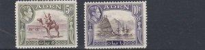 ADEN  1939 - 48   S G  26 - 27     5R  & 10R       MH   CAT £90