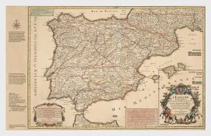 Stamps Spain 2021- 300 Anniversary Of The First Post Map Of Spain - Mint - Minia