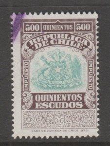 Chile fiscal Revenue stamp 8-9-20- better denomination 500 peso