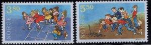 Norway Scott 1201-1202 MNH** Childrens games set 1998