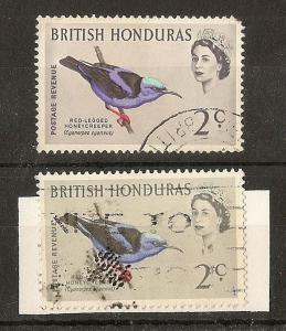 Br Honduras 1962 2c 'Birds Head' Variety Fine Used