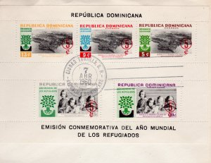 Dominican Republic 1960 World Refugee Year Souvenir Sheet Perforated FDC