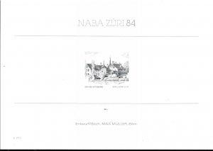 Switzerland 1984 Three Engraved Proof Cards Honoring Swiss Stamp Engravers ART