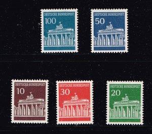 GERMANY STAMP Brandenburger Tor 1966  MNH/OG STAMP SET