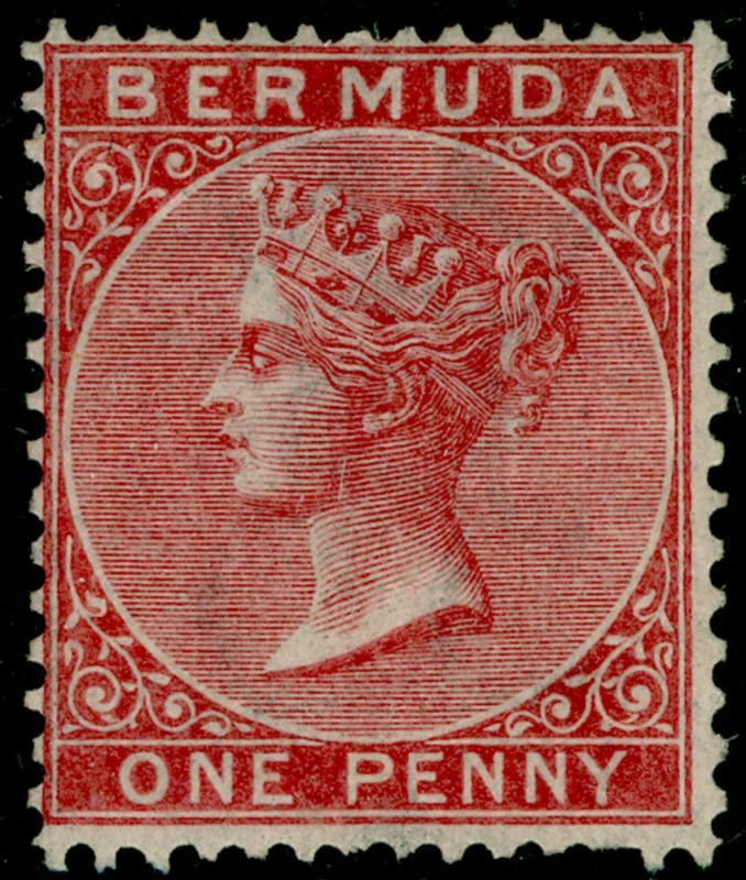 BERMUDA SG1, 1d rose-red, UNUSED. Cat £100.