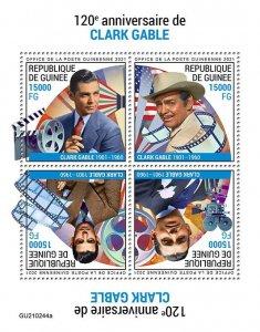GUINEA - 2021 - Clark Gable - Perf 4v Sheet -Mint Never Hinged