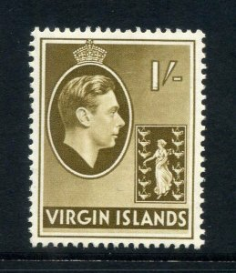 Virgin Islands 1938 KGVI 1/- chalk paper SG 117 mint