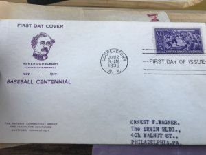 855 Baseball First Day Cover