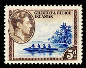 GILBERT & ELLICE ISLANDS SG49, 5d deep ultramarine & sepia, LH MINT.