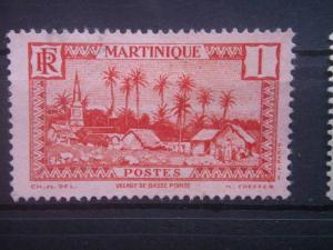 MARTINIQUE, 1933, used 1c, Village of Basse-Pointe Scott 133
