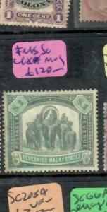 MALAYA FMS (PP1501B)  $1.00 ELEPHANT SG 48   MOG