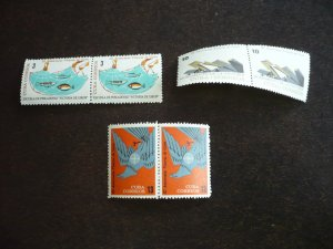 Stamps - Cuba - Scott# 825 -827 - Mint Hinged Set of 3 Stamps in Pairs