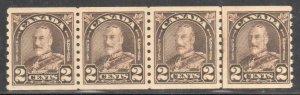 Canada #182i+iii Mint VF-XF NH *Cockeyed eye king and Line Variety C$440.00