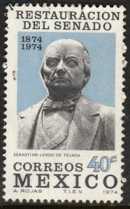 MEXICO 1069, Centenary of the restoration of Senate Used. VF.  (582)