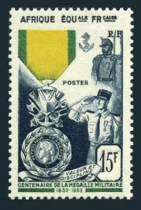 French Equatorial Africa 186,MNH.Michel 288. French Military Medal-100,1952.