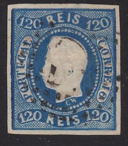 PORTUGAL 1866 120 reis imperf fine used with good margins...................2431