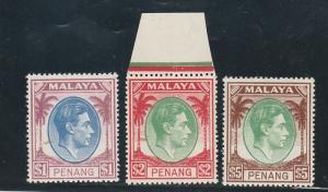 PENANG 1949 KGVI PALM TREES $1 $2 $5 */** TOP 3 VALUES