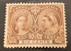 Canada #55 MINT VF/XF LH Jubilee C$300.00