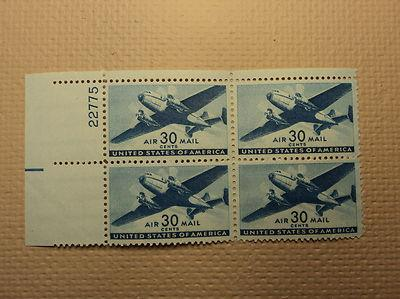 USPS Scott C30 30c Air Mail Transport Plane 1941 Mint NH ...
