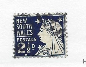 New South Wales, 100c, Queen Victoria Perf 11 1/2 x 12 Single. Used
