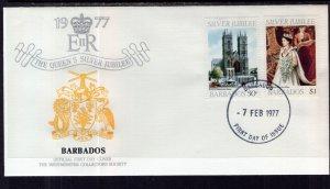 Barbados 453-454 Queen Elizabeth II Silver Jubilee U/A FDC