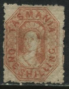 Tasmania QV 1864 1/ vermilion unused no gum