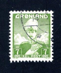 Greenland #3,   F/VF, Used, CV $4.00 ....2510158