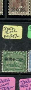 MALAYA JAPANESE OCCUPATION SELANGOR (P2304B) KANJI 3C  SG J282 R TO L  MOG