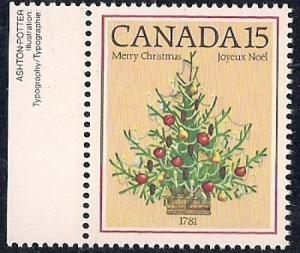 Canada #900 15 cent 1781 Christmas Tree mint OG NH XF